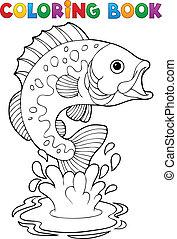 물고기, 2, 바다에서는 서투른, 칠하기 그림책