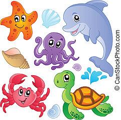 물고기, 3, 동물, 바다, 수집