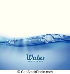 물, 거품, 배경, 억압되어