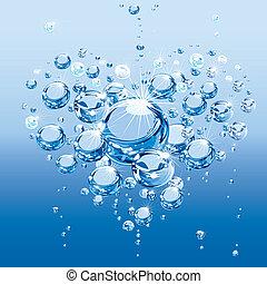 물, 거품, 사랑