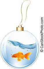 물, 공, fish, 금, 새해