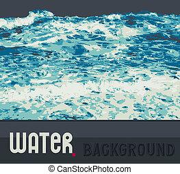 물, 떼어내다, 배경