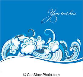 물, 떼어내다, 파도