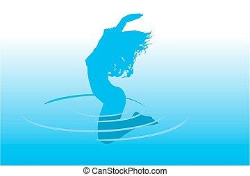 물, 뛰는 것