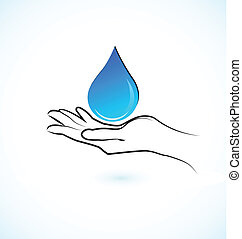 물, 로고, 손, 아이콘, 걱정