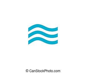 물, 로고, 파도