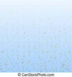 물, 배경, 벡터, 거품