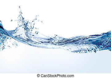 물, 백색, 튀김, 고립된