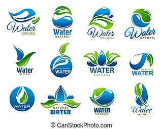 물, 벡터, 제자리표, 광물, 아이콘