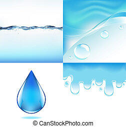 물, 세트