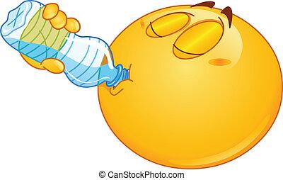 물, 이모티콘, 술을 마시는 것