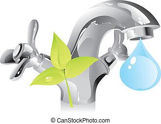 물, 자원, -, 자연