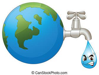 물, 지구, 내리다