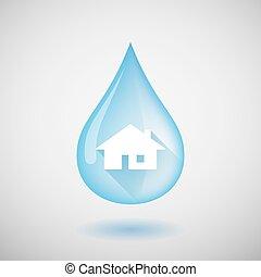 물, 집, 내리다