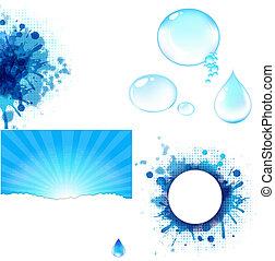 물, 크게, 상징, 세트