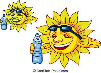 물, 태양, 통조림으로 하게 된다, 웃음, 열대적인