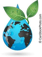 물, 행성, 내리다