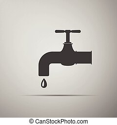물, icon., 꼭지
