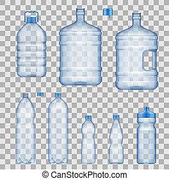 물, mockups, 벡터, 병, 컨테이너