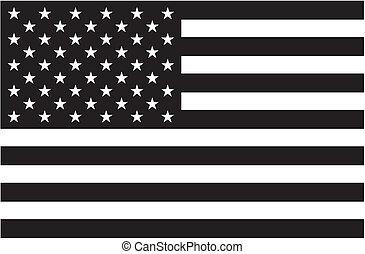 미국 기, 검정, 백색