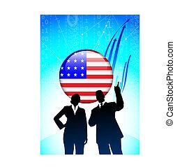 미국 영어, 재정, 배경, 비즈니스 팀