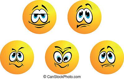 미소, 다른, 5, 표현
