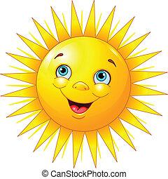 미소 짓고 있는 태양