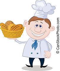바구니, 빵 굽는 사람, bread