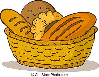 바구니, bread