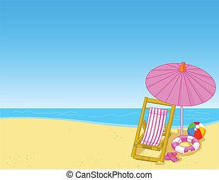 바닷가, 여름