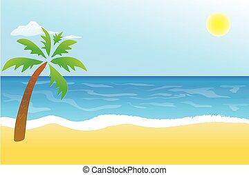 바닷가, 열대 장소