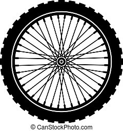 바퀴, 검정, 자전거, 실루엣, 벡터