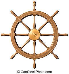 바퀴, 배