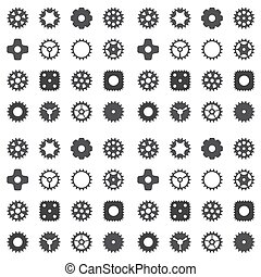 바퀴, 장치, cogwheel, pattern., seamless, 기계, 벡터, illustration.