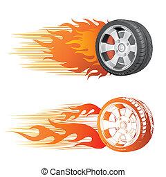 바퀴, 정열