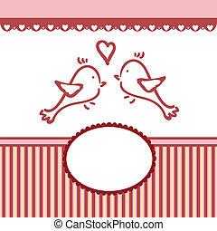 발렌타인, 인사, 본뜨는 공구, 결혼식, 또는, 카드