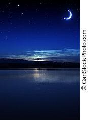 밤, 조용함, 여름