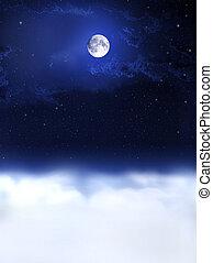 밤, dreams..., 달, 빛