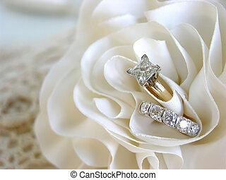 배경, 결혼 반지