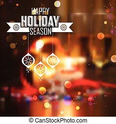 배경, 명랑한, 년, 새로운, 크리스마스, 행복하다