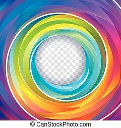배경, 소용돌이, 다채로운
