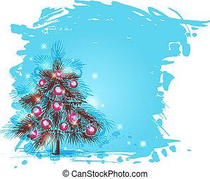 배경, 크리스마스 나무