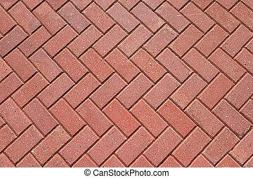 배경, 타일, 보이는 상태, 빨강, 떼어내다, 해석, 진보, 정상, 일, 포장하는 것, 도시의, 포장 도로, pattern., 끝내는 것, 환경, 개념, 디자인, bricks., 조경술을 써서 녹화하다