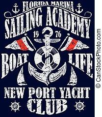 배경, 항해, 포스터, 떼어내다, sailboat;, 디자인, 바다, template., sunset.