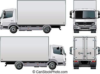 배달, /, 트럭, 뱃짐
