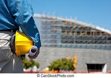 배심장, 건설 직원, 위치, 또는