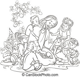 백색, 검정, 아이들, 예수