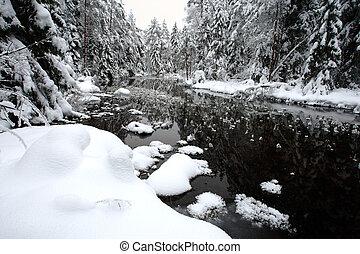 백색, 겨울의 풍경