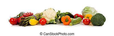 백색, 열, 야채