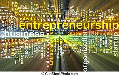 백열하는 것, 개념, 배경, 사업가 정신